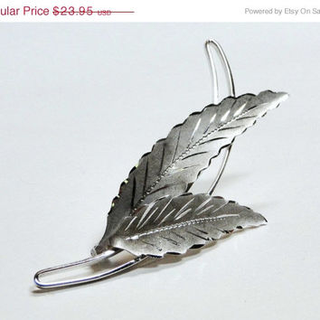 SALE Sterling Brooch Vintage Leaf Pin Signed CC Autumn Leaves Vintage Pin Gift Idea