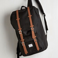 Menswear Inspired Expedition Mission Backpack by Herschel Supply Co. from ModCloth