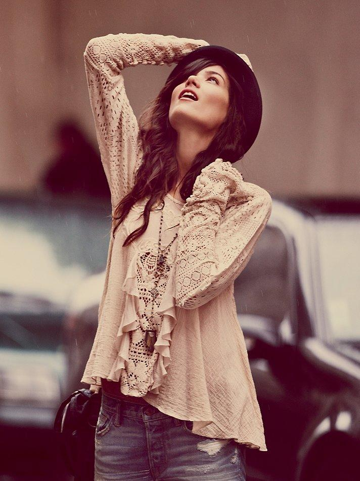 Free People Ruffled Whimsy Top