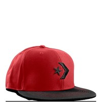 Converse - Flat Brimmed Hat - Hat - Red/Black