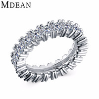 Mdean Romantic 6mm Gold Plated Engagement Wedding Bands Women Msr378