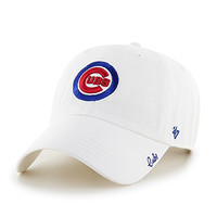 Chicago Cubs Women's White Miata Clean-Up Adjustable Cap by '47 Brand