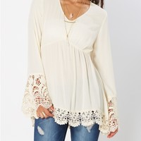 White Empire Crochet Tunic