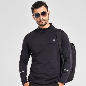 Spring Autumn Mens Long Sleeve High Elastic Fleece Shirt Outdoor Fitness Climbing Running Quick Drying Breathable Sports Tops