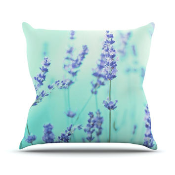 "Monika Strigel ""Mint Lavender"" Teal Purple Throw Pillow"