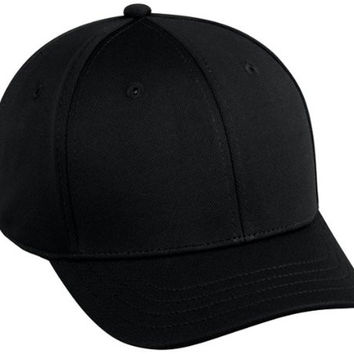 "Baseball Home Plate Umpires ProFlex Fitted Cap BLACK (MEDIUM/LARGE) 2"" Bill/Bamboo Stretch Fit"