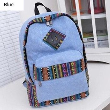 University College Backpack BONAMIE 2017 Fashion Women  Canvas  Wind  Simple Ethnic Sweet Girl High Quality Travel Books RucksackAT_63_4