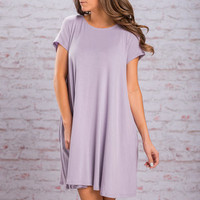 One Way Ticket Dress, Lavender