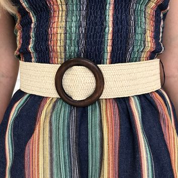 Wicker Beige Belt