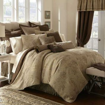 Waterford Orla Mink Bedding By Waterford Bedding, Comforters, Comforter Sets, Duvets, Bedspreads, Quilts, Sheets, Pillows: The Home Decorating Company