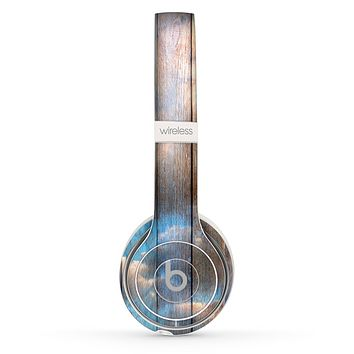 The Cloudy Wood Planks Skin Set for the Beats by Dre Solo 2 Wireless Headphones