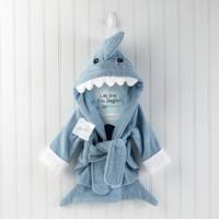 Adorable Shark Baby Spa Robe (Personalization Available) - Available in Pink & Blue