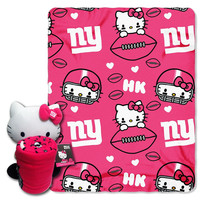 New York Giants NFL Hello Kitty with Throw Combo