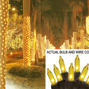 "29"" Lighted Tinsel Trumpeting Angel Christmas Yard Art Decoration"