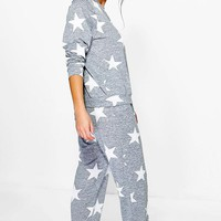 Alice Star Print Sweat + Jogger Set | Boohoo