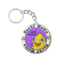 Ducky Momo Hates People! Key Chains
