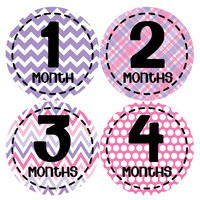 Baby Girl Monthly Baby Stickers Style #268