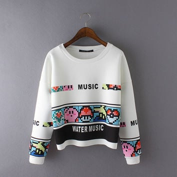 Winter Women's Fashion Print Hoodies [6513356359]