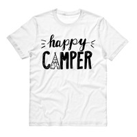 Happy Camper Shirt, Spring Summer Shirt, Adventure, Music Festival, Camping Shirt, Road Trip Shirt, Camper Shirt, Bonfire Shirt, Camp Shirt