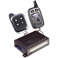 Astra 2-way Security System & Keyless Entry With 1 Lcd Chrome 5-button 2-way & 1 Sleek Chrome 5-button 1-way Remotes
