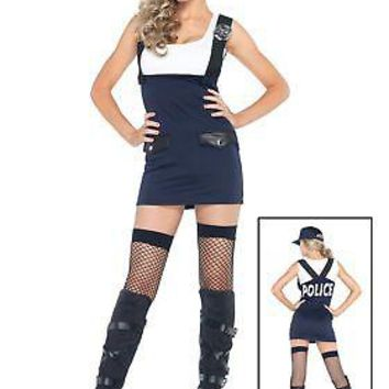 Adult Bad Cop Police Girl Costume