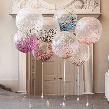 5Pcs Confetti Air Balloons Inflatable Helium Decoration Wedding Party