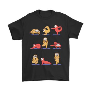KUYOU Sloth Practicing Yoga Slowly Doing It Shirts