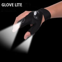 New Outdoor camping hiking Magic Strap Fingerless Glove LED Flashlight Torch Cover Survival repair Rescue Tool