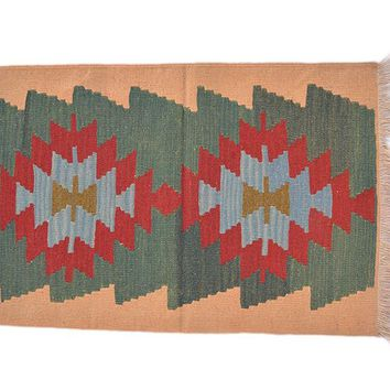 "Turkish Kilim Turkish 1' 11"" X 2' 9"" Handmade Rug"