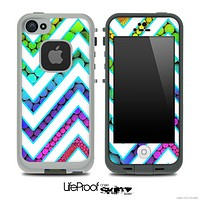 Large Chevron and Color Scale Skin for the iPhone 5 or 4/4s LifeProof Case