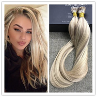 Full Shine I Tip Extensions Straight Brazilian Remy Human Hair Fusion Hair Extensions 100 Real Hair Fast Delivery 1g/Stands