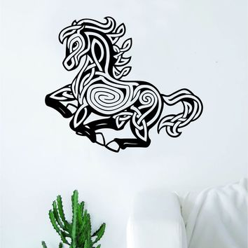 Horse V9 Design Animal Wall Decal Home Decor Room Bedroom Sticker Vinyl Art Horseback Riding Kids Teen Baby