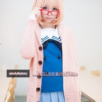 Beyond the Boundary Mirai Kuriyama Ayi Ai Shindo Cosplay Costume Custom made