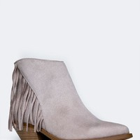 FRINGE POINTED TOE BOOTIE