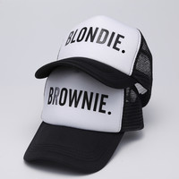 BLONDIE BROWNIE Trucker Mesh Hip Hop Baseball Cap