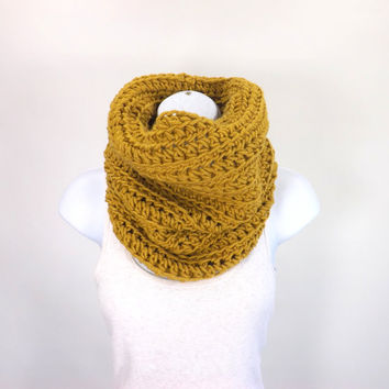 Chunky Cowl /HONEY/, Unisex Cowl Scarf, Men Woman Neck Warmer, Gift Idea