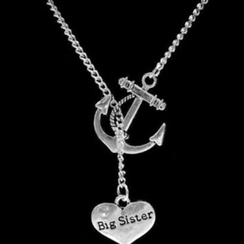 My Big Sister Big Sis My Anchor Christmas Gift Lariat Necklace