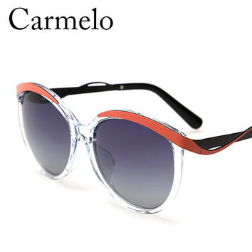 High Quality PC Two-Color Carmelo CM#2399 Fashion Women Sunglasses Polarized Glasses Oval Multi Colorful Frames Sun Glasses