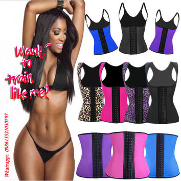 Women Corset Latex Waist Trainer Shapers Lose Waist Cincher Tummy Slimming Belt Underwear Hot Body Shaper Slim Waist Shapewear