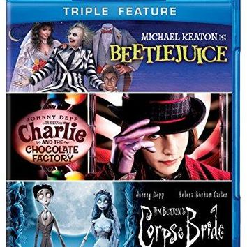 Johnny Depp & Michael Keaton & Tim Burton-Triple Feature (Beetlejuice / Charlie and the Chocolate Factory / Corpse Bride)