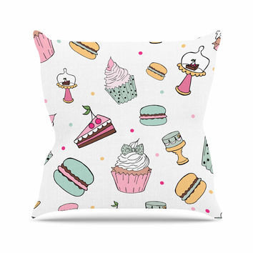 "Louise ""Sweet Sweet Cake"" Pastel Food Throw Pillow"