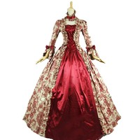 Victorian Gothic Period Prom Gown Wedding Reenactment Theatre Clothing Party Dress Prom Dresses