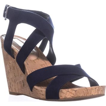 I35 Landor Wedge Sandals, Indigo, 10 US