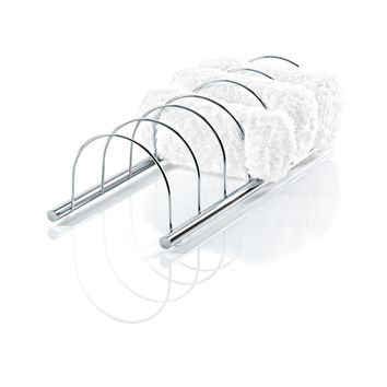 DWBA Chrome Guest Towel Holder for 6 Towels, Towel Rack W/ Divisions for Bathroom