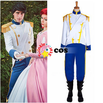 Halloween costumes for men the little mermaid prince Eric cosplay costume adult prince Eric outfit