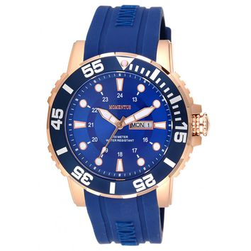 Momentus FS311R-11RR Men's Functional Sport Navy Blue Dial Navy Blue Rubber Strap Watch