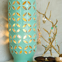 Mint Cutwork Ceramic Lamp