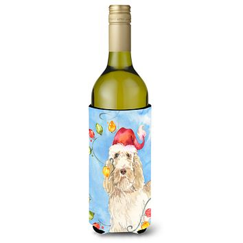 Christmas Lights Spinone Italiano Wine Bottle Beverage Insulator Hugger CK2496LITERK