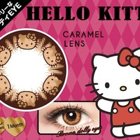Hello Kitty Color Contact Lens Caramel