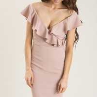 Nancy Blush Ruffle Dress